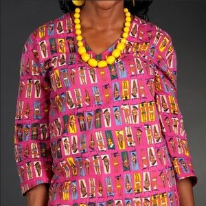 Tracy Negoshian pink print tunic